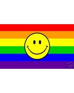 Rainbow Smiley Flag (90x150cm)