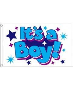 Its a Boy Stars Flag (90x150cm)