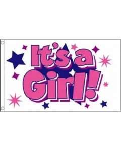 Its a Girl Stars Flag (90x150cm)
