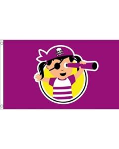 Pirate Child Girl Flag (90x150cm)