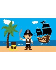 Pirate Treasure Beach Flag (90x150cm)