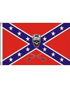 Confederate Soldier Skull Flag (90x150cm)