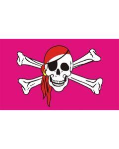 Pink Pirate - Pirat Flag (90x150cm)