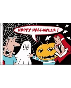 Halloween Cartoon Flag (90x150cm)