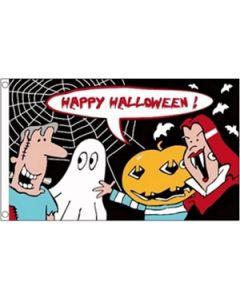Halloween Cartoon Flag (90x150cm)