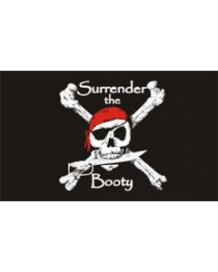 Surrender the Booty - Pirat Flag (90x150cm)