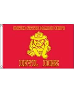 Marine Devil Dogs Flag (90x150cm)