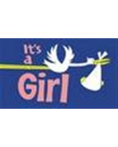 Its a Girl Flag (90x150cm)