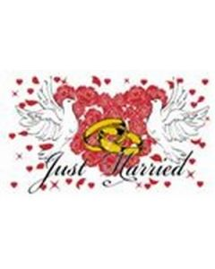 Just Married Flag (90x150cm)