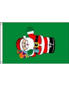 Santa with Gifts Flag (90x150cm)