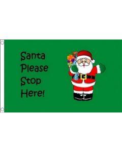 Santa Stop Here Flag (90x150cm)
