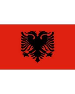 Albanien Satin Flag (15x22cm)