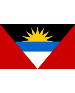 Antigua og Barbuda Satin Flag (15x22cm)