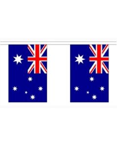 Australien Papir Guirlander 4m - 10 flag (A4)