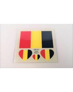 Belgien Tattoo (6x6cm)
