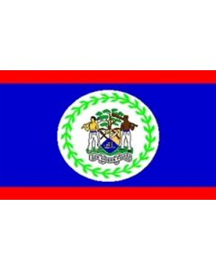 Belize Satin Flag (15x22cm)