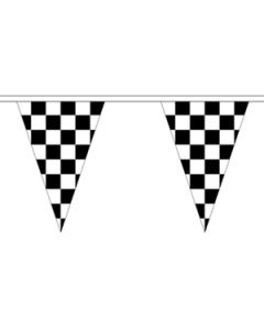 Black and White Check Triangle Guirlander 20m (54 flag)