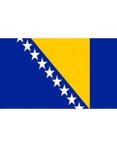 Bosnien-Hercegovina Satin Flag (15x22cm)