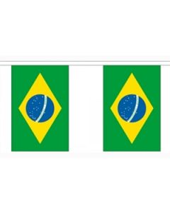 Brasilien Papir Guirlander 2,8m - 10 flag (A5)