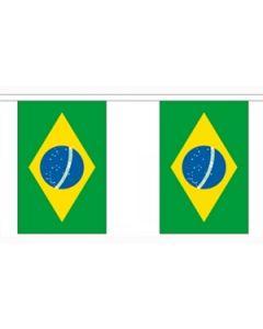 Brasilien Papir Guirlander 4m - 10 flag (A4)