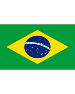 Brasilien Satin Flag (15x22cm)