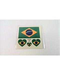 Brasilien Tattoo (6x6cm)