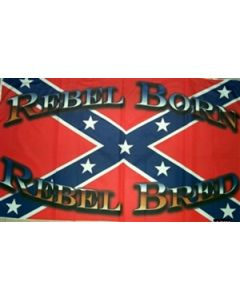 Rebel Born Rebel Bred Flag (90x150cm)
