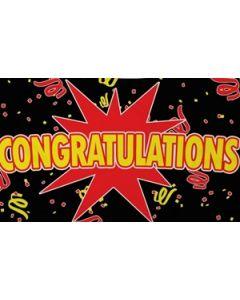 Congratulations Black Flag (90x150cm)