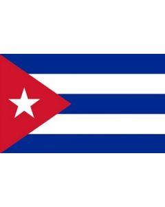 Cuba Satin Flag (15x22cm)