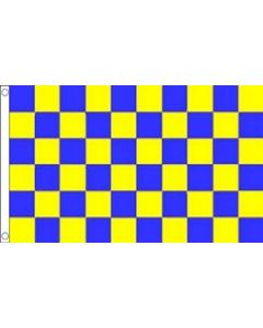 Blue and Yellow Check Flag (90x150cm)