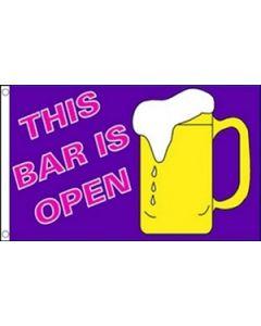 The Bar is Open Flag (90x150cm)