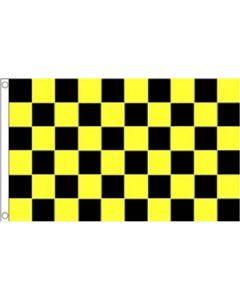 Black and Yellow Check Flag (90x150cm)