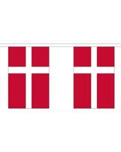 Dannebrog Papir Guirlander 4m - 10 flag (A4)
