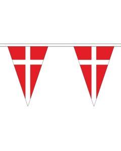 Dannebrog Triangle Guirlander 5m (12 flag)