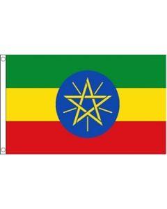 Etiopien med Stjerne Flag (60x90cm)