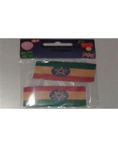 Etiopien med Stjerne Kageflag (30x48mm)