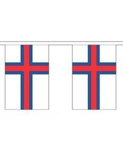 Færøerne Papir Guirlander 4m - 10 flag (A4)