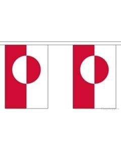 Grønland Papir Guirlander 4m - 10 flag (A4)