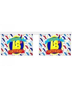 Happy 18th Birthday Guirlander 3m (10 flag)