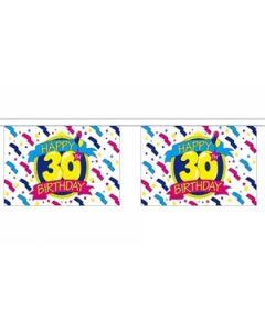 Happy 30th Birthday Guirlander 3m (10 flag)