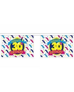 Happy 30th Birthday Guirlander 9m (30 flag)