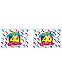 Happy 40th Birthday Guirlander 3m (10 flag)