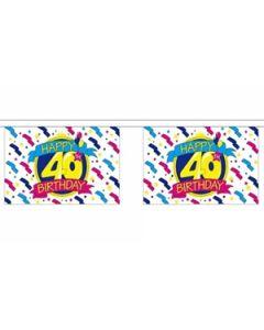 Happy 40th Birthday Guirlander 9m (30 flag)