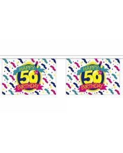 Happy 50th Birthday Guirlander 3m (10 flag)