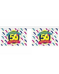 Happy 50th Birthday Guirlander 9m (30 flag)