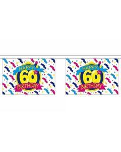 Happy 60th Birthday Guirlander 3m (10 flag)