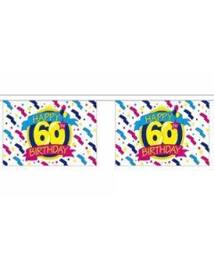 Happy 60th Birthday Guirlander 9m (30 flag)