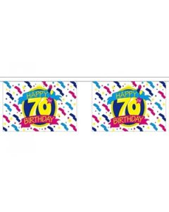 Happy 70th Birthday Guirlander 3m (10 flag)