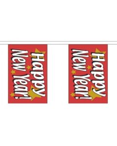 Happy New Year Guirlander 3m (10 flag)