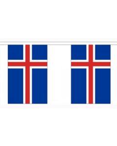 Island Papir Guirlander 4m - 10 flag (A4)